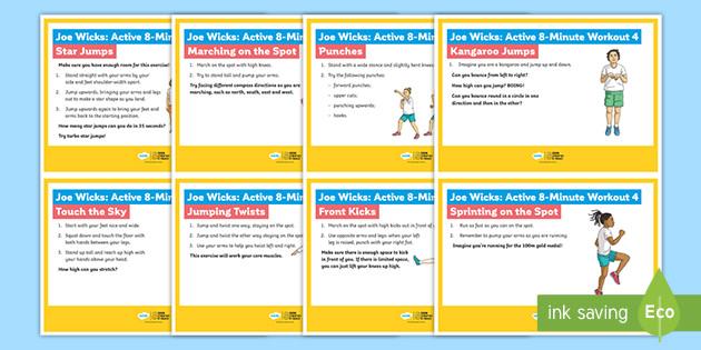 Joe Wicks: Active 8-Minute Workout 4 Cards