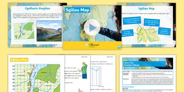 BBC Plant Mewn Angen: Sgiliau Map Pecyn Gwers Daearyddiaeth