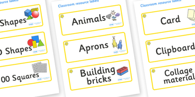 Buttercup Themed Editable Classroom Resource Labels - Themed Label template, Resource Label, Name Labels, Editable Labels, Drawer Labels, KS1 Labels, Foundation Labels, Foundation Stage Labels, Teaching Labels, Resource Labels, Tray Labels, Printable