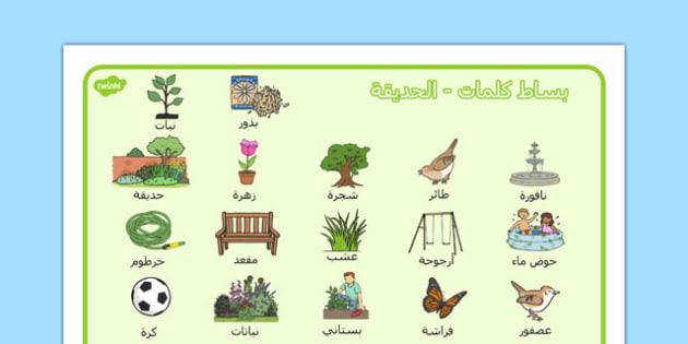 بساط كلمات الحديقة - شبكة مفردات،  الحديقة، وسائل