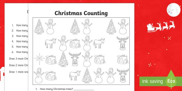 Christmas Counting Activity Sheet