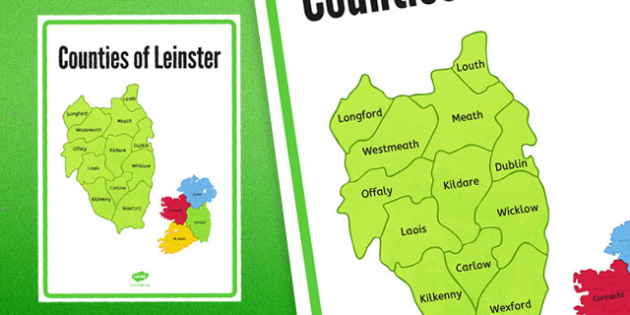 Counties of Leinster Display Poster - counties, leinster, display poster, display, poster