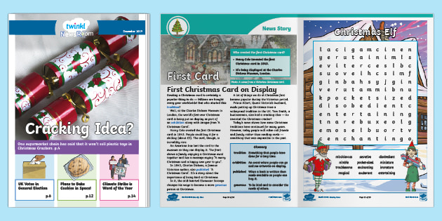 Ks2 Twinkl December Monthly News Magazine Teacher Made