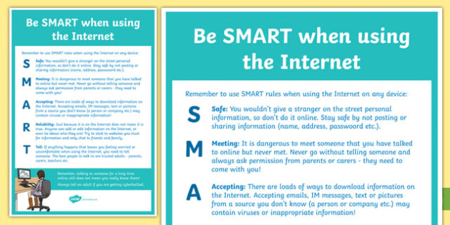 Computing Be SMART Online Poster - computing, be smart