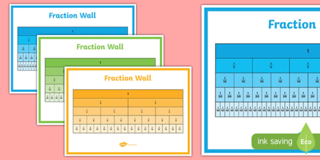 Fractions Wall Display Pack