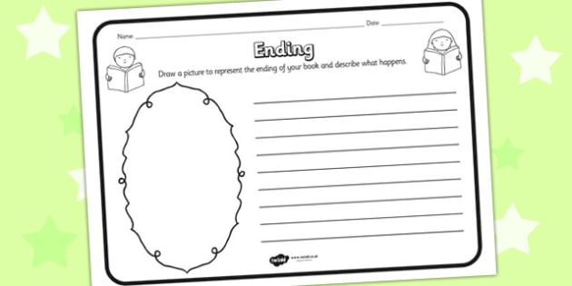 Ending Reading Comprehension Activity - ending, comprehension, comprehension worksheet, character, discussion prompt, reading, discuss, ending worksheet