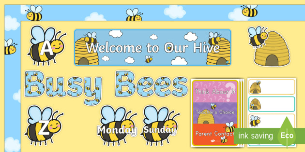 Bee Themed Bulletin Board Pack