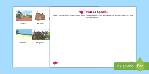 My Town Is Special Worksheet Activity Sheet