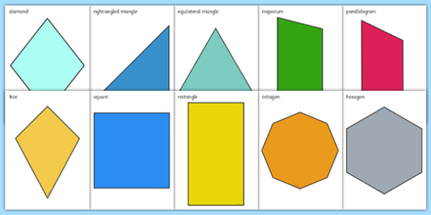 2d Shapes, Cut Outs, A4, Cut Out, 2d