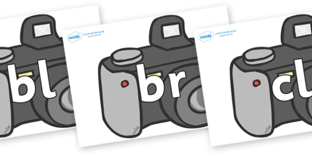 Initial Letter Blends on Cameras - Initial Letters, initial letter, letter blend, letter blends, consonant, consonants, digraph, trigraph, literacy, alphabet, letters, foundation stage literacy