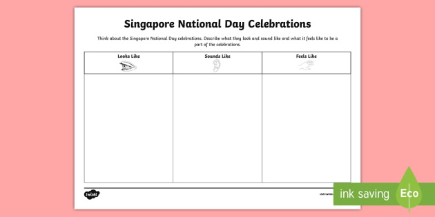 singapore national day celebrations worksheet activity sheet. Black Bedroom Furniture Sets. Home Design Ideas
