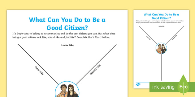 New What Can You Do To Be A Good Citizen Y Chart