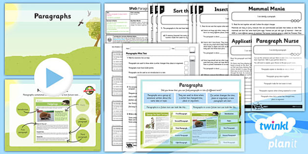 PlanIt Y3 SPaG Lesson Pack: Paragraphs - planit, y3, spag, lesson pack, paragraphs