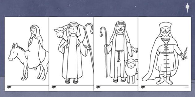 the nativity colouring pages nativity colour pages christmas