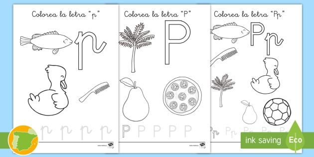 Hoja De Colorear La Letra P Fonetica Fonemas Primaria