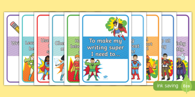 EYFS Super Writing Display Posters