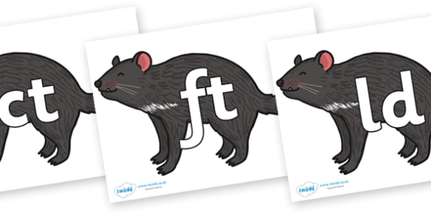 Final Letter Blends on Tasmanian Devil - Final Letters, final letter, letter blend, letter blends, consonant, consonants, digraph, trigraph, literacy, alphabet, letters, foundation stage literacy