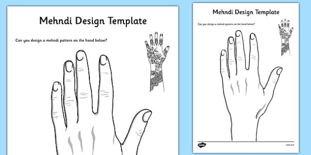 photograph about Henna Templates Printable named Mehndi Style Template - diwali, mehndi, structure template