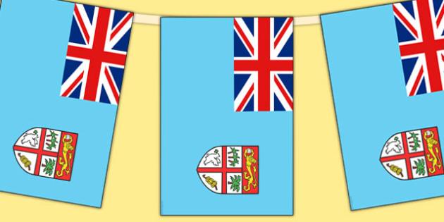 Fiji Flag Display Bunting - countries, geography, flags, fiji
