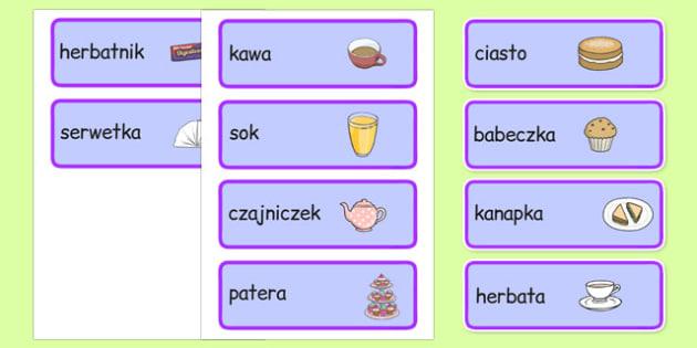 Odgrywanie Ról Herbatka u Królowej słownictwo po polsku
