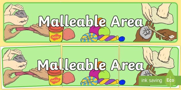 Malleable Area Sign - Classroom Area Signs, KS1, Playdough, Plastcine, Banner, Foundation Stage Area Signs, Classroom labels, Area labels, Area Signs, Classroom Areas, Poster, Display, Areas