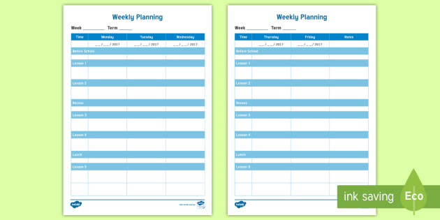 picture about Weekly Planning Sheets titled Weekly Designing Template - Conclude of Calendar year/Again in direction of Higher education
