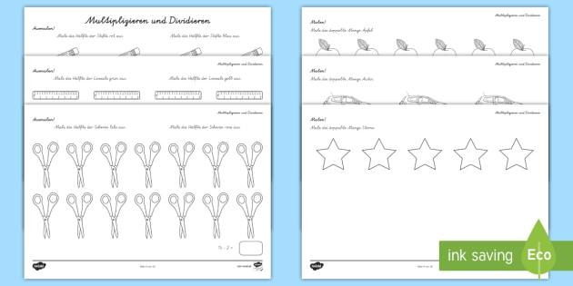 NEW * Ausmalen Multiplikation und Division Arbeitsblätter