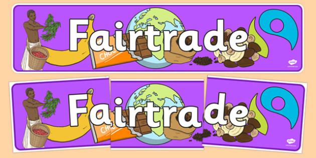 Fairtrade Display Banner - fairtrade, fair trade, banner, trade
