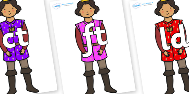 Final Letter Blends on Princes - Final Letters, final letter, letter blend, letter blends, consonant, consonants, digraph, trigraph, literacy, alphabet, letters, foundation stage literacy