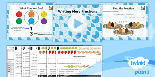 PlanIt Maths Y2 Fractions Lesson Pack Write Simple Fractions (2)