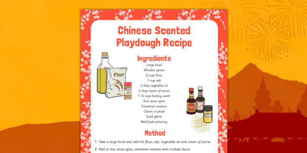 Chinese Scented Playdough Recipe - chinese, scented, playdough, recipe, playdough recipe, chinese scented