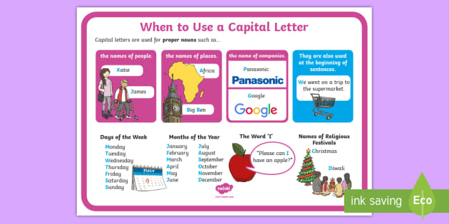 when to use a capital letter poster  teacher made