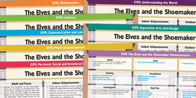 EYFS The Elves and the Shoemaker Lesson Plan and Enhancement Ideas - planning, lesson ideas