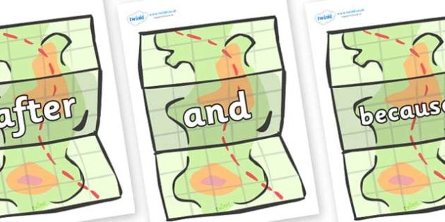 Connectives on Maps - Connectives, VCOP, connective resources, connectives display words, connective displays