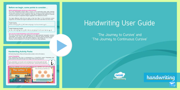 Twinkl Handwriting User Guide PowerPoint - handwriting, Nelson handwriting, penpals, fluent, joined, legible, handwriting intervention