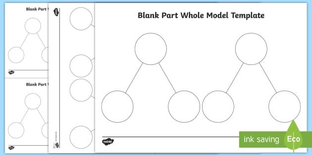 Blank Part Whole Model Template  Teacher Made