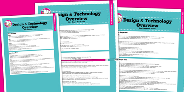 2014 Curriculum Design and Technology Overview - new curriculum