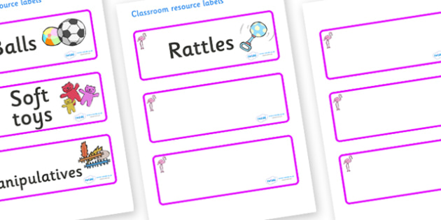 Flamingo Themed Editable Additional Resource Labels - Themed Label template, Resource Label, Name Labels, Editable Labels, Drawer Labels, KS1 Labels, Foundation Labels, Foundation Stage Labels, Teaching Labels, Resource Labels, Tray Labels, Printable