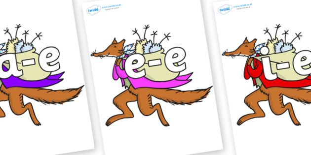 Modifying E Letters on Mr Fox to Support Teaching on Fantastic Mr Fox - Modifying E, letters, modify, Phase 5, Phase five, alternative spellings for phonemes, DfES letters and Sounds
