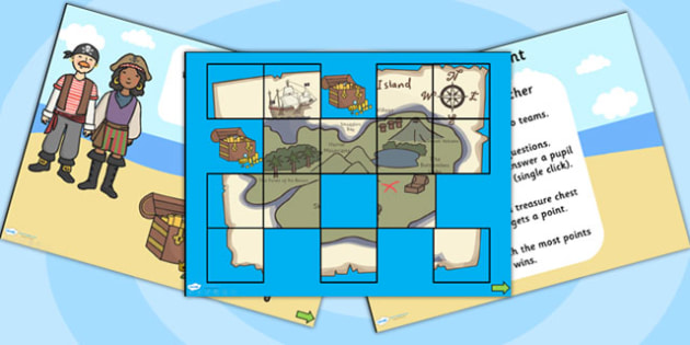 Treasure Hunt Quiz Powerpoint Template Pirates Treasure Hunt Quiz