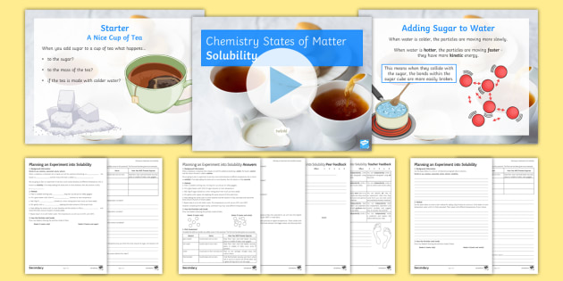 States Of Matter Lesson 6 Solubility Lesson Pack Solubility