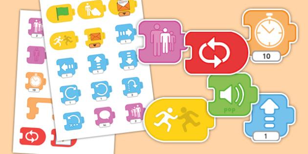 Scratch Junior Blocks - scratch, junior, blocks, computing, programming