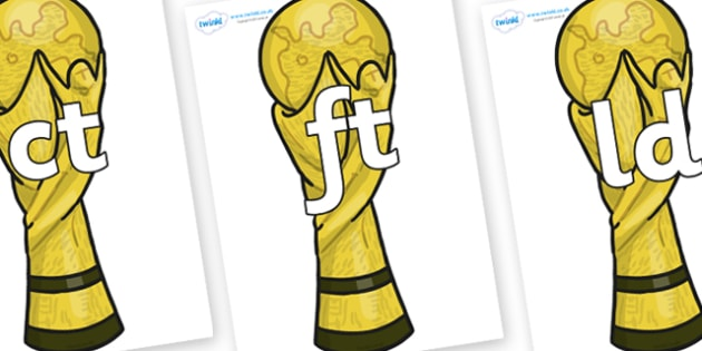 Final Letter Blends on World Cup Trophy - Final Letters, final letter, letter blend, letter blends, consonant, consonants, digraph, trigraph, literacy, alphabet, letters, foundation stage literacy