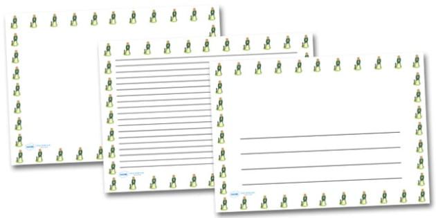 Maiden Tethered Landscape Page Borders- Landscape Page Borders - Page border, border, writing template, writing aid, writing frame, a4 border, template, templates, landscape