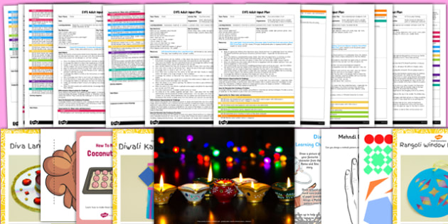 EYFS Diwali Themed Adult Input Planning and Resource Pack - eyfs, diwali, adult, input, planning, pack