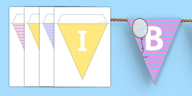 Birthdays Bunting - birthdays, bunting, display, display bunting