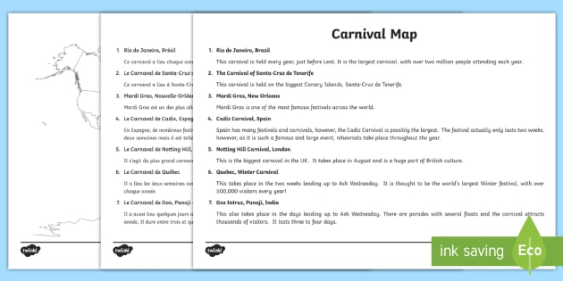 Carnivals around the world map labelling activity sheet carnivals around the world map labelling activity sheet englishfrench ks2 geography gumiabroncs Images