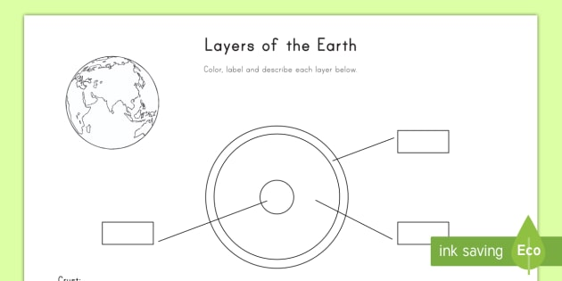 layers of the earth worksheet activity sheet earth layers. Black Bedroom Furniture Sets. Home Design Ideas