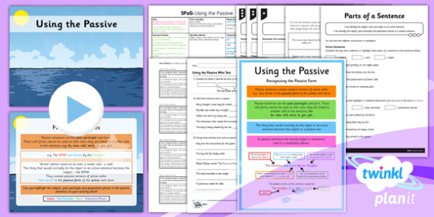 PlanIt Y6 SPaG Lesson Pack: Using the Passive - planit, spag, lesson pack, lesson, pack