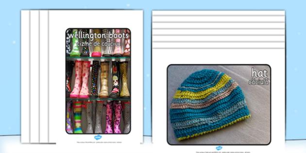 Winter Clothes Display Photographs Romanian Translation - romanian, winter, clothes, display, photographs, photos